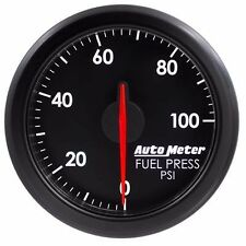 FITS FORD DODGE CHEVY ETC AUTO METER BLACK AIRDRIVE SERIES FUEL PRESSURE GAUGE..
