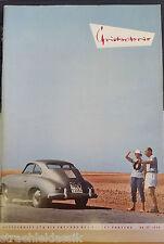 Rare Christophorus cuaderno 41 de 1959 revista para los amigos de la casa Porsche