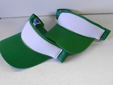 Lot 2 NOS Vtg '90's OC Outdoor Cap Visors One Size Most ADJ Kelly Green