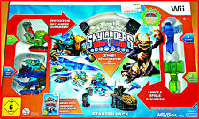 WII SKYLANDERS TRAP TEAM + emballage d'origine + 2 extrafiguren cartes à