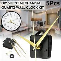 5PCS DIY Quartz Wall Clock Movement Mechanism Repair Parts Tool Kit Silent Gold