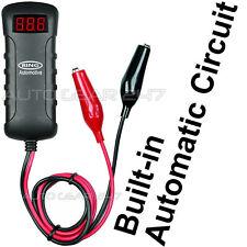 Coche 12v 24v RBA4 PANTALLA LED Voltímetro Analizador Probador De Batería. Pinzas Cocodrilo