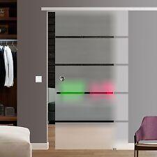 SlimLine Soft Stop Glasschiebetür Glas Schiebetür 1025x2175mm BP1-1025-2-AS
