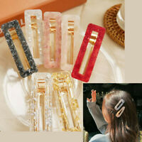 Fashion Women Acrylic Clip Snap Barrette Stick Hairpin Bobby Hair Accessories