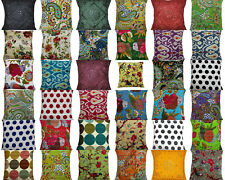 Indian Handmade Cotton Kantha Bed Home Decor Pillow Cushion Cover Sofa Throw 16""