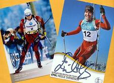 Ole Einar Björndalen-Emil hegle SVENDSEN (3) 2 AK images print copies + 2 AK