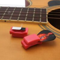 5X Rubber Guitar Pick Holder Fix on Headstock for Bass Ukulele Parts Red/Black