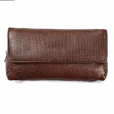 Soft Leather Smoking Pipe Case Pouch Tobacco Bag Tamper Filter Tool Cleaner