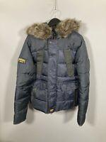 SUPERDRY PADDED PARKA Jacket - Size XL - Dark Navy - Good Condition - Men's