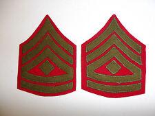 b2530p USMC 1930's chevron 1st First Sergeant Rank Winter pair red green R7A