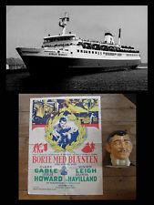 Rare Scarlett-Boats memorabilia. Gone with the wind poster + Clark Gable head.