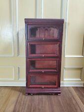 Dollhouse Miniature 4 Shelf Barrister Lawyers Bookcase Mahogany 1:12 Scale