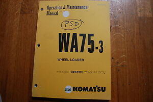 KOMATSU WA75-3 Wheel Loader Owner Operator Operation Maintenance Manual 2000 OEM