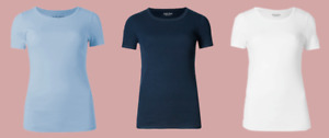 Ex M*S Short Sleeve Cotton Summer Top T Shirt 3 Colours All Sizes