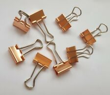 10 x 19 mm or rose cuivre Binder Replier Bulldog clips Planner Clips