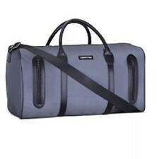 NWT Kenneth Cole Duffle STEEL GRAY Weekender Gym Travel Bag 2 Front Zip Pockets