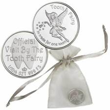 1 - 1/10 oz. 999 Fine Silver Round - A Visit From the Tooth Fairy with Gift Bag