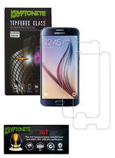 2x Pack KRYPTONITE Protectores de Pantalla de Vidrio Templado para Galaxy S6