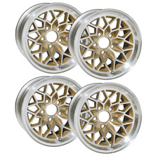 15 X 8 INCH TRANS AM SNOWFLAKE WHEEL SET OF 4 - WS6 STYLE - GOLD -FITS 1967-1981