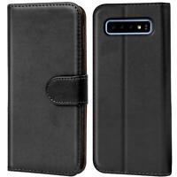 Handy Hülle Samsung Galaxy S10 Plus Cover Schutz Tasche Slim Flip Case Bookcase
