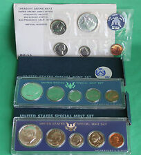 1965 1966 1967 Special Mint Set SMS 15 Coin Lot with Boxes 40% Silver 3 Sets