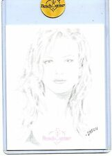 2007 BENCHWARMER NIKKI ZIERING JUMBO SKETCH CARD BY DYSON