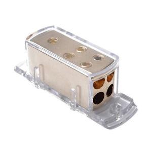 Car Audio Stereo Power Ground Wire Splitter Distribution Block 4-Way 4/8 GA