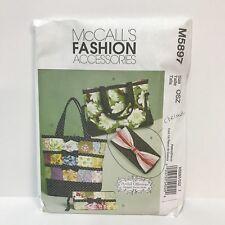 Uncut McCalls Fashion Accessories Pattern M5897 Artful Katrina Hittle Totes Bags