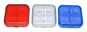 Square Pill Box Reminder Holders Medicine Pills Boxes Tablets Pocket Purse Bag