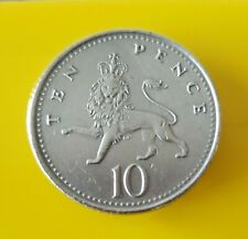 2000.  United Kingdom 10 Pence Coin.  🐉.