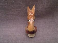 """bouchon fantaisie ancien""""tete d'âne""""bois sculpté"""