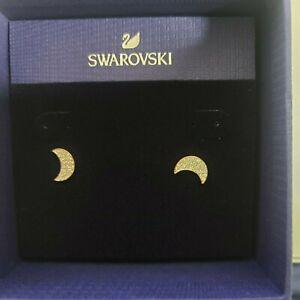 Swarovski 5523559 Earrings Studs crystal Moon Rose Gold Plated 1CM E044