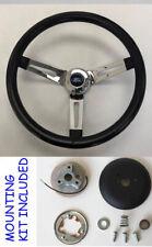 "13 1/2"" Bronco F100 F150 F250 F350 Grant Black Chrome Spokes Steering Wheel"