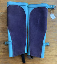 Blue Leather/suede Childs Half Chaps