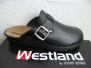 Westland by Josef Seibel Clogs Sabot Pantoletten Romika Leder schwarz Neu