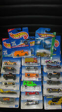 20 X MIXED 1/64 HOT WHEELS EARLY RELEASE, FIRST EDITIONS, + 1 TREASURE HUNT   #M