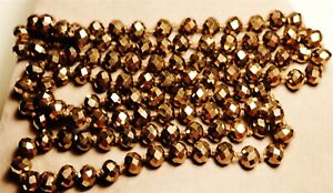 Vintage In Seattle Fabulous Necklace Lot#693 chocolate tone beveled crystals
