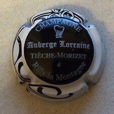 Capsule de champagne TIECHE-MORIZET Auberge Lorraine (12. noir contour blanc)
