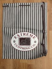 EXTREME STRIPE DRAWSTRING DUFFLE / GYM  / BEACH  / SPORTS  / SWIMMING BAG