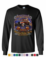 COAST 2 COAST Hot Rod Garage Long Sleeve T-Shirt American Outlaw Route 66 Tee