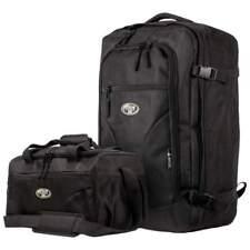"2pc Flight Approved Black CarryOn 22"" BACKPACK BAG SET Travel Weekender Suitcase"
