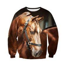 Animal Horse Funny 3D Print casual Mens Womens Sweatshirt Pullover Hoodies Tops