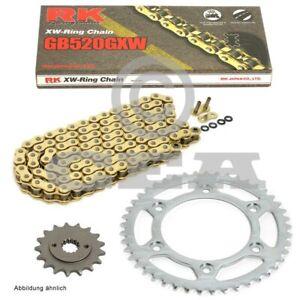 Kettensatz Husqvarna TR 650 Strada ABS 13-14  Kette RK GB 520 GXW 112  offen  GO