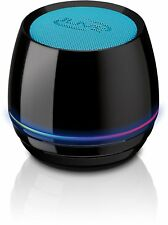 iLive Portable Wireless Speaker with LED Light Effects, 3.2 x 3.2 x 3 Inches, Bl