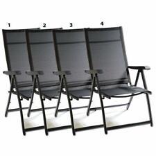4X Heavy Duty Adjustable Reclining Folding Chair Outdoor Indoor Garden Pool