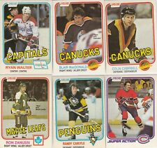 1981-82 O PEE CHEE lot of 12 DIFFERENTS CARDS  near mint