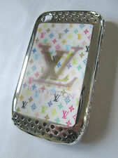 Blackberry 8520 Hard Shell-Case-Cover.Chrome effect.holograph panel.fashion case