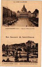 CPA  Bon Souvenir de Saint-Étienne -Placede la Hotel de Ville  -Jardin  (226237)