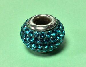 KAY JEWELERS CHARMED MEMORIES MID BLUE SWAROVSKI ELEMENT STERLING SILVER MA 925