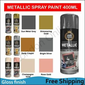 Metallic Spray Paint Aerosol Auto Car Matt Gloss Lacquer Wood Metal 400ml